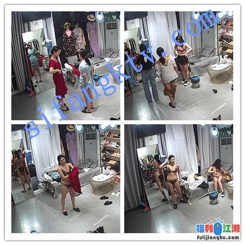【破解摄像头】服装店内多角度直播带货换衣服!(2)【3.62G】